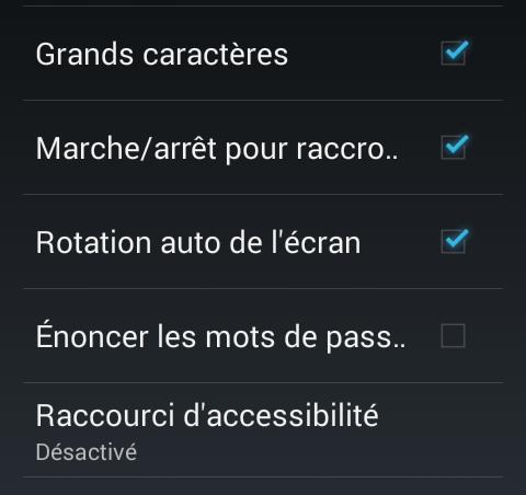 Accessibilité Android