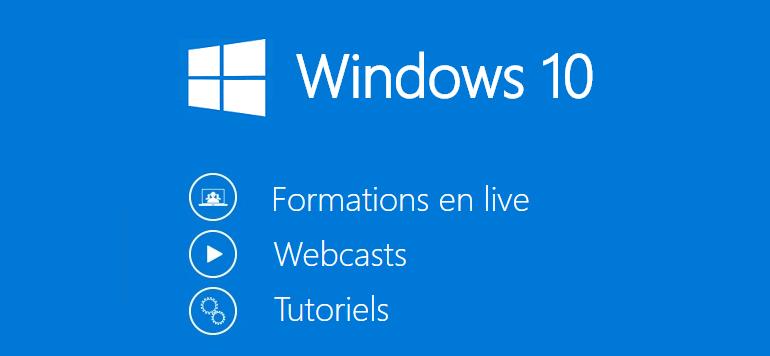 Formation Windows 10, cours en ligne et en live